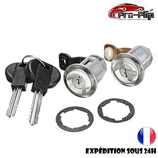 Kit de cerraduras de puerta + cilindros para Citroën Berlingo, Xsara, Peugeot Partner 252522 + llave