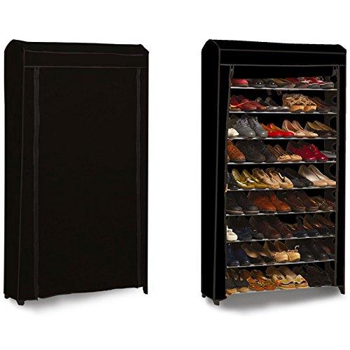 ProBache - Etagère range chaussures 50 paires modulable+housse noire