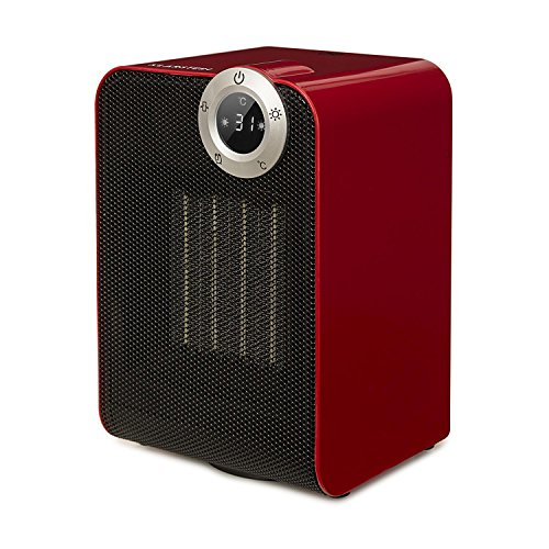 Klarstein Cozy Cube • Keramikheizgerät • Elektroheizung • E-Heizung • Leistung: 900 oder 1800 Watt • LED-Touchdisplay • diverse Heizmodi • Abschalttimer • spritzwassergeschützt IPX1 • rot (Elektro-raum-heizung)