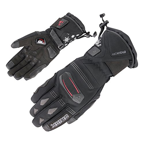 Orina beheizbare Damen Winter-Motorradhandschuhe - Handschuhe mit Heizung - inklusive Batterie Pack (S (6))