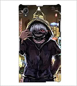PrintDhaba Scary Face D-4231 Back Case Cover for SONY XPERIA Z1 (Multi-Coloured)