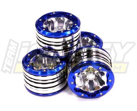 INTEGY RC Model Hop-ups c23063blue High Mass 40oz Alloy Tipo VII Beadlock 2.2 Wheel (4) Set for 1/10 Rock Crawler