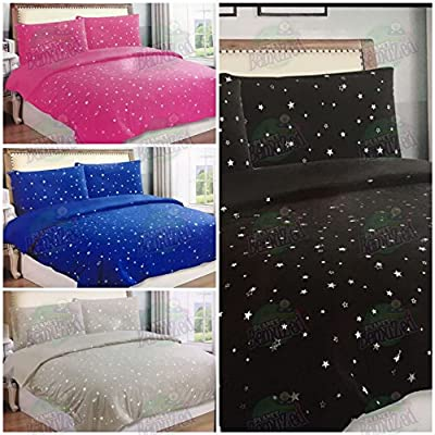 Star Starry Sky Night Duvet Quilt Cover & Pillowcase/s Bedding Bed Linen Set - CosySleep®