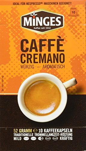 Minges Caffé Cremano - Kaffeekapseln, 10er Pack (10 x 52 g)