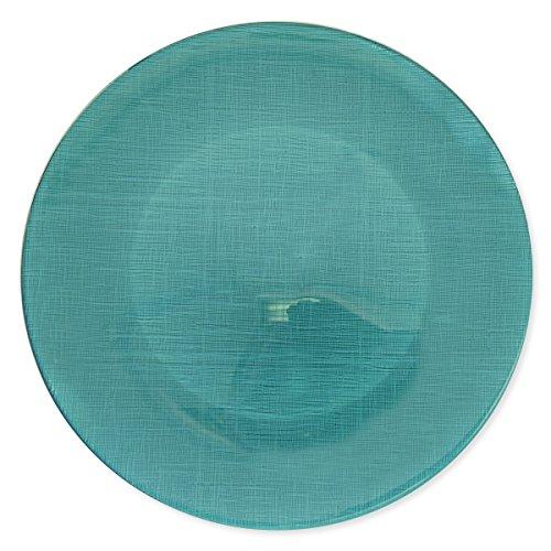 Bruno Evrard Assiette de présentation en verre turquoise 33cm - ASTRID