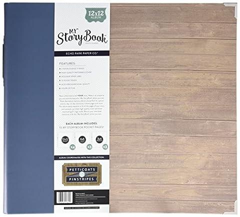 Echo Park papier My Journal Story Book 3anneaux Album photo 30,5x 12-inch-petticoats et Pinstripe garçon en bois