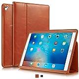 KAVAJ iPad Pro 9.7 Hülle Echtleder Case 'Berlin' für das Apple iPad Pro 9.7 Cognac-Braun aus echtem Leder mit Stand und Auto Schlaf/Aufwachenen Funktion. Dünnes Smart-Cover Schutzhülle Tasche für die 9.7 iPad Pro Generation  Kavaj Berlin – Edle iPad Pro Lederhülle 51VzeAIk3OL