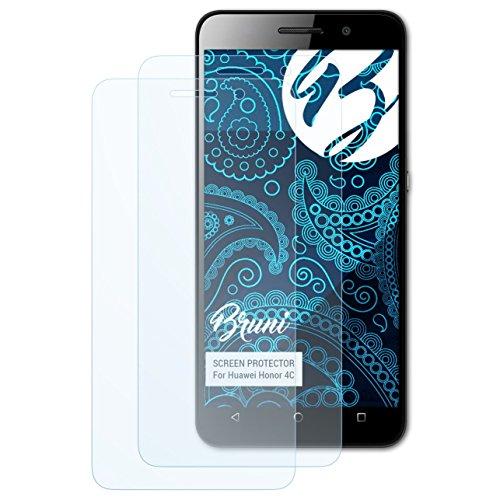 Bruni Schutzfolie kompatibel mit Huawei Honor 4C Folie, glasklare Bildschirmschutzfolie (2X)