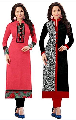 Navratri New Combo Kurties Collection Low Price Printed Pink Kurti For Girl Crepe Cotton Low Price Amazon Prime Kurti