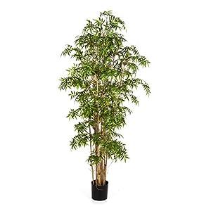 artplants.de Bambú japonés Artificial Kaito, 1310 Hojas, Verde, 110cm – árbol Decorativo – Planta sintética
