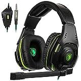 Sades sa938PS4nuevo Xbox un Gaming Headset 3.5mm Jack estéreo over de oído auriculares con MIC Revolution Volumen Reducción de ruido para PC Laptop Teléfono