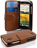 Cadorabo - Book Style Hülle für HTC Desire X - Case Cover Schutzhülle Etui Tasche mit Kartenfach in BORDEAUX-LILA