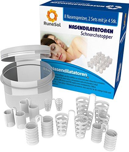 Obstruktive Schlafapnoe Schnarchen (Anti-Schnarchmittel Schnarchstopper 8pk | Verschiedene Größen von Anti Schnarch Nasendilatatoren, entwickelt um das Schnarchen zu stoppen | Verbesserung der Schlafapnoe | Hilft bei Nasenstauung und einem abgewichenen Septum | Inklusive Anti-Bakterieller Box | 100% 12 Monate Garantie)