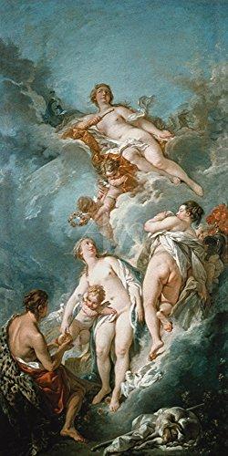 Artland Alte Meister Premium Wandbild François Boucher Bilder Poster 40 x 20 cm Urteil von Paris...