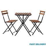 Generic NV 1001006309-lm52-uk * 1* * 6309* * Akazie schwere Holz Stuhl Tisch Klappstuhl Gartenstuhl Garten Stuhl Olding Bistro-Stil Stühle Stühle Metall Outdoor Blitzlicht Style Stühle