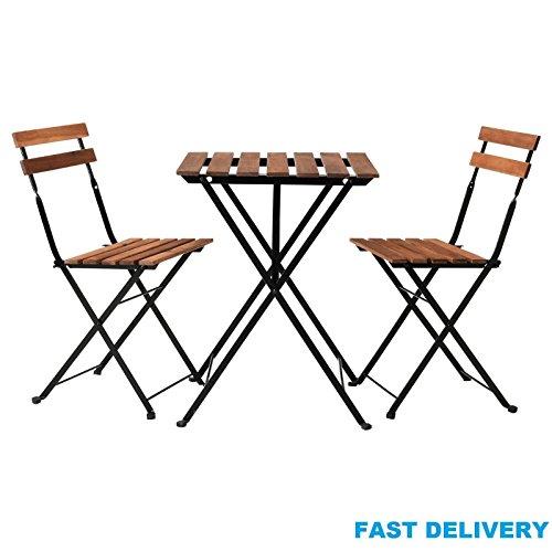Generic A1. Num. 6309. Cry. 1. Chaise de Jardin Chaise d'acacia Heavy Bois AVIC I Commercial en métal Extérieur Etal ou Table Pliante Style Bistro Style Chaises RS. NV 1001006309-wruk23