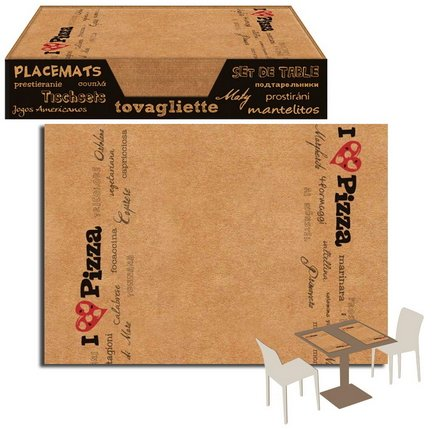 Placemat 35 X 50 Kraft Paper Havana Rustic packservice Pizza Pack of 750