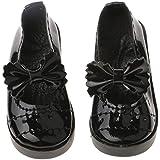 Generic Chaussures Bowknot Style Lolita Chunky Talon Haut Décoration Pour 1/3 Poupées BJD Doll