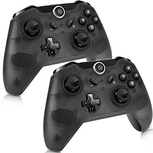 2Pcs Manette pour Nintendo Switch, Switch Pro Sans Fil Contrôleur, Wireless Bluetooth Gamepad...