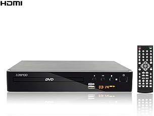 LONPOO Kompakt DVD-Player Alle Region frei Multimedia Digital Player ( 720p, Unterstützung Karaoke/USB-Festplatte/ HDMI /CD Ripping, LED Display,mit Full Function Remote ) -schwarz