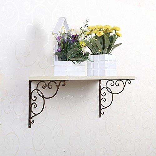 Coppia di supporto da parete supporto per Display 20cm Surpass Scaffale cistems in ghisa staffa di mensola da parete in bronzo