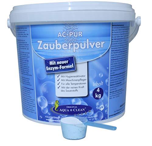 AQUA CLEAN PUR Zauberpulver Waschkraftverstärker mit extra Flecklöse-Kraft, 4kg neue Enzym-Formel