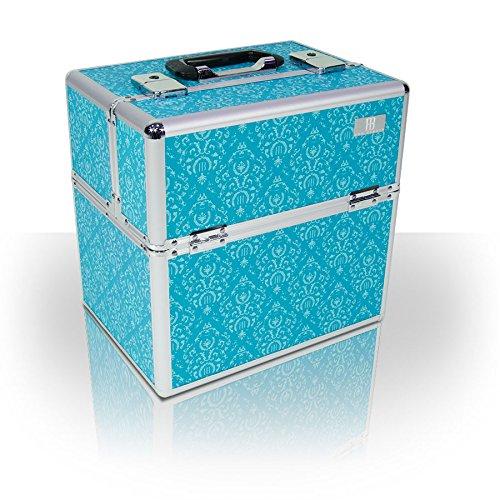 Roo Beauty Vanity-case professionnel pour matériel de maquillage Bleu sarcelle