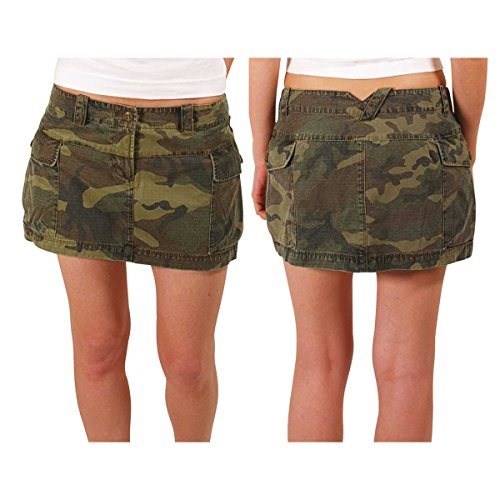 ADDICT Womens Skirt CARGO MINI CAMO, camo 26 (Cargo-rock Camo)