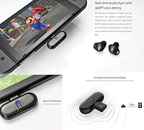 Kabelloser Bluetooth Adapter Kompatibel mit Nintendo Switch, GULIKIT ROUTE + Drahtloser Audio Kopfhörer Sender Lautsprecher USB Typ-C Adapter Sender und Transceiver Kompatibel mit Nintendo Switch - 5