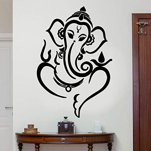 haotong11 Ganesha Elefant Gott Hindu Hinduismus Wandaufkleber Vinyl Kunst Wohnkultur Für Wohnzimmer Schlafzimmer Abnehmbare Innenwand 57 * 84 cm