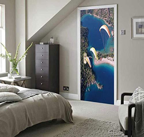 Creative Removable 3D Wall Decal Art Vinyl Muraldekoration Schlafzimmer Wohnzimmer Wandaufkleber Tür Aufkleber Fallschirmspringen Kinderzimmer