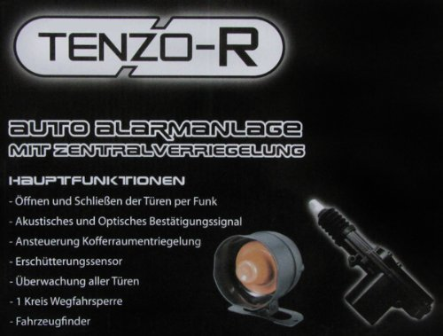 AUTO ALARMANLAGE + SIRENE MIT ZENTRALVERRIEGELUNG BLINKERANSTEUERRUNG