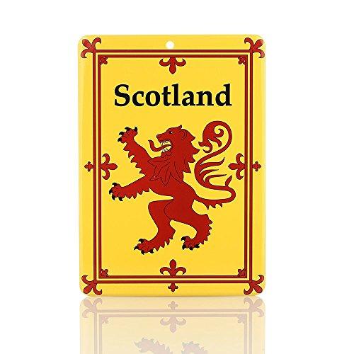 Eburya Lion Rampant Blechschild mit dem schottischen Löwen