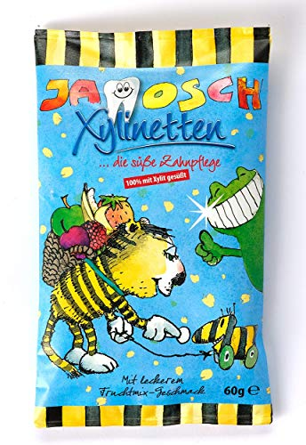 Dr. Bauer´s Janosch Xylinetten Xylitol Zahnpflege-Bonbons 60g Tutti Frutti