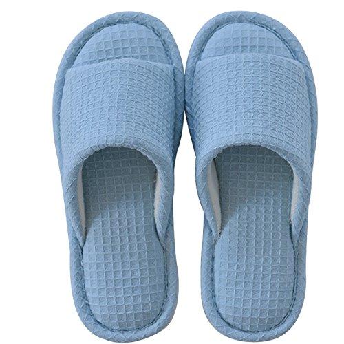 Confortable Pantoufles d'été Voyage faites glisser les pantoufles de bain antidérapantes Chaussons de jardin en coton Dames encolant de pantoufles fraîches (3 couleurs en option) (taille facultative)  A