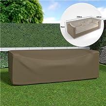 EDM Funda sofa 3 plazas impermeable color marron claro 230x100x70cm