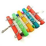 Pájaro escalera loro juguetes jaula accesorios colorido con madera natural para todas las aves pequeñas y medianas 1pc