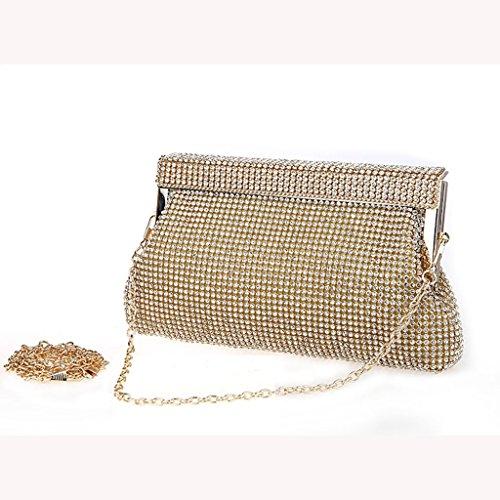 La borsa da sposa abiti borsa borsa nuova borsa da sera di banchetto borsa a mano di diamante della moda ( Colore : Nero ) Oro
