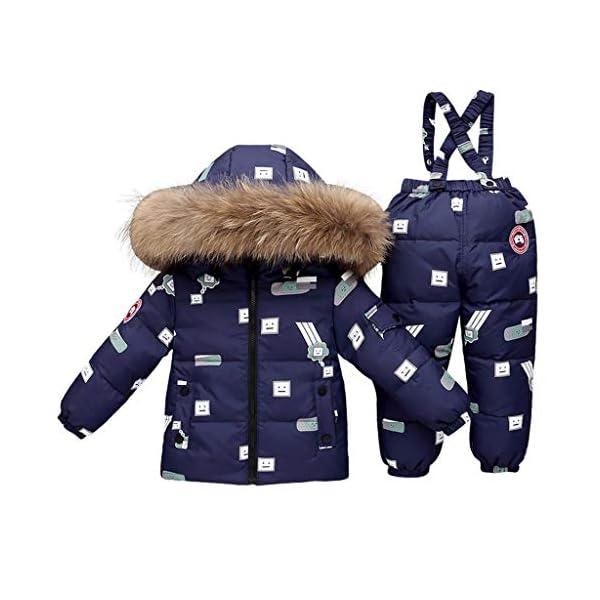 TYYM ski suit Traje De Bebé para La Nieve, Chaqueta con Capucha Monos De Una Pieza por 1-3 años Black-100cm 5