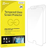 """iPhone 6s Plus 6 Plus Screen Protector, JETech 2-Pack [3D Touch Compatible] Premium Tempered Glass Screen Protector Film for Apple iPhone 6 Plus and iPhone 6s Plus 5.5"""" - 0813"""