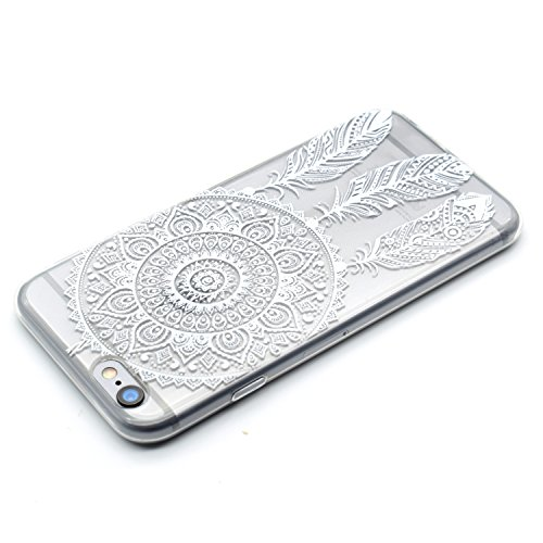 iPhone 6 Plus Hülle,iphone 6S Plus Schutzhülle Defender Bumper,Ekakashop Ultra dünn Slim Bunte Musik-Turm Muster Modisch Durchsichtig Transparent Weiche Silikon TPU Crystal Gel Case Protective Handyhü Traumfänger