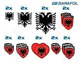 Sarafol Paquete de Albania 18 Pegatinas en el Set (Nr.075) Adhesivo Albania Etiqueta Shqipëria