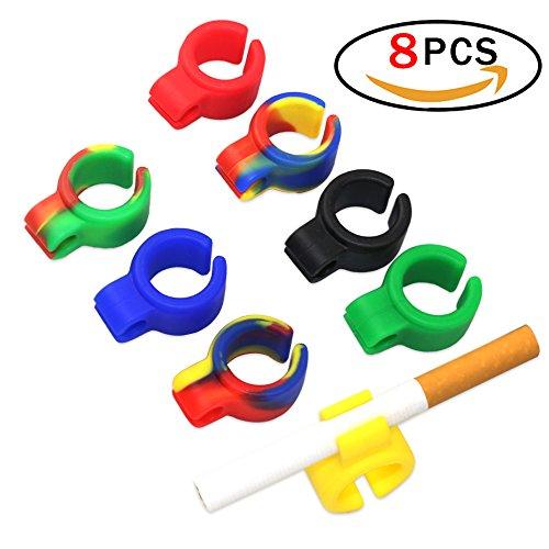 Finger für Zigaretten Papers Zigaretten-Halter Ring, Gaming freihändig Rauchen Zigarettenspitze Hände Rauchen Zubehör Durable Silikon-Hand-Ring-Halter