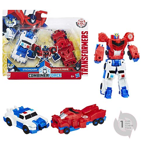 Hasbro Transformers C0629ES0 - Robots In Disguise CRASH COMBINERS OPTIMUS PRIME und STRONGARM, Spielset