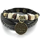 Adisaer Acier Inoxydable Gourmette Hommes Bracelet Charms Or Noir Horoscope zodiaque...