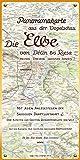 Die Elbe. Panoramakarte aus der Vogelschau.: Die Elbe von Děčín bis Riesa. Meißen · Dresden · Sächsische Schweiz. Mit allen Anlegestellen der Sächsischen Elbschiffahrt.