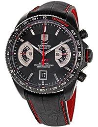TAG Heuer - Reloj de pulsera hombre, piel, color negro