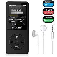 Mp3 Player, RUIZU X02 Digital Music Player with FM Radio, Voice Recorder, Video Play, Text Reading, 80 Hours Playback and Expandable Up to 128 GB (Black)