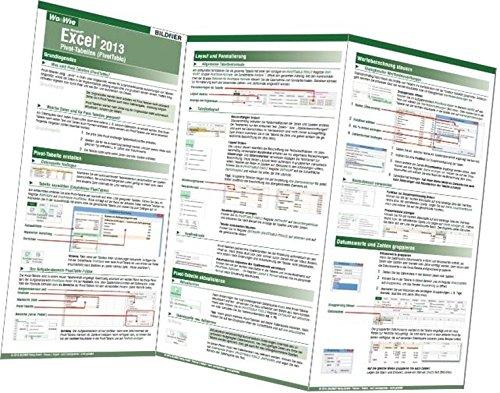 Pivot-Tabellen mit Excel 2013 (PivotTable) (Excel Pivot-tabellen)