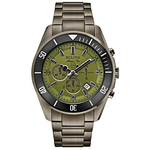 bulova-marine-star-mens-quartz-watch-with-green-dial-analogue-display-and-grey-ion-plated-bracelet-9